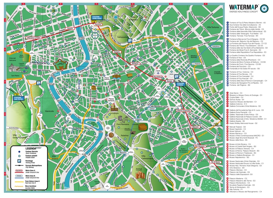 All Roads Lead To Rome's Drinking Fountains By Elena Damaschin: Rome Drinking Fountains Map At Infoasik.co