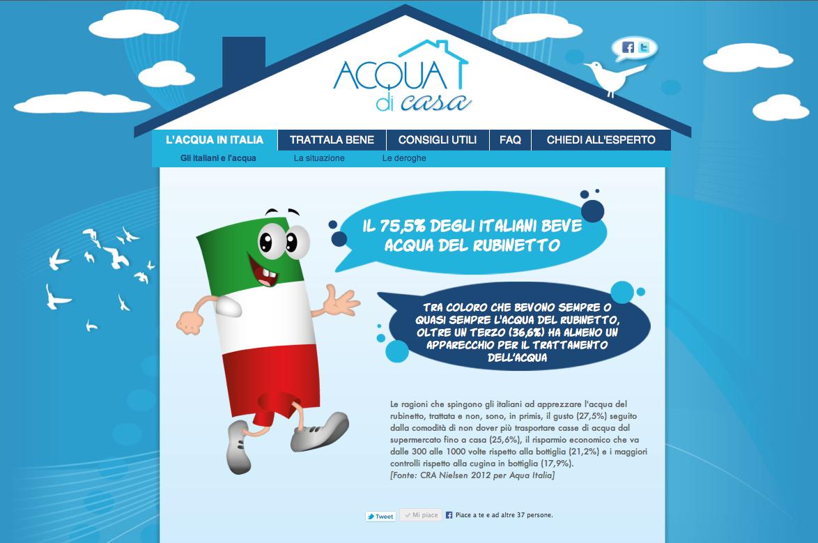 Acquadicasa.it: un portale per la promozione di una nuova cultura dell'acqua.