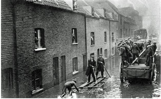 La grande alluvione di Londra del 1928
