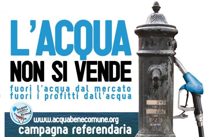 Privatizzazione dell'acqua: bisogna rispettare il referendum