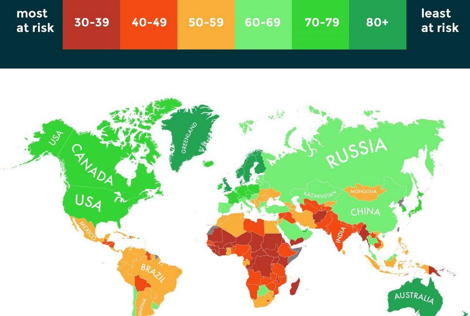 La mappa dei paesi che potranno resistere meglio al climate change