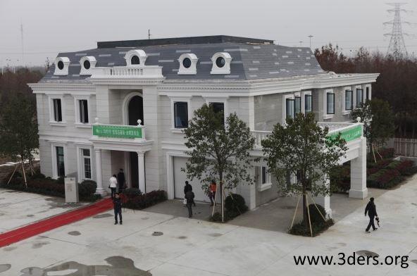 Costruiti in Cina edifici (palazzine e una villa) realizzati con materiali stampati in 3D