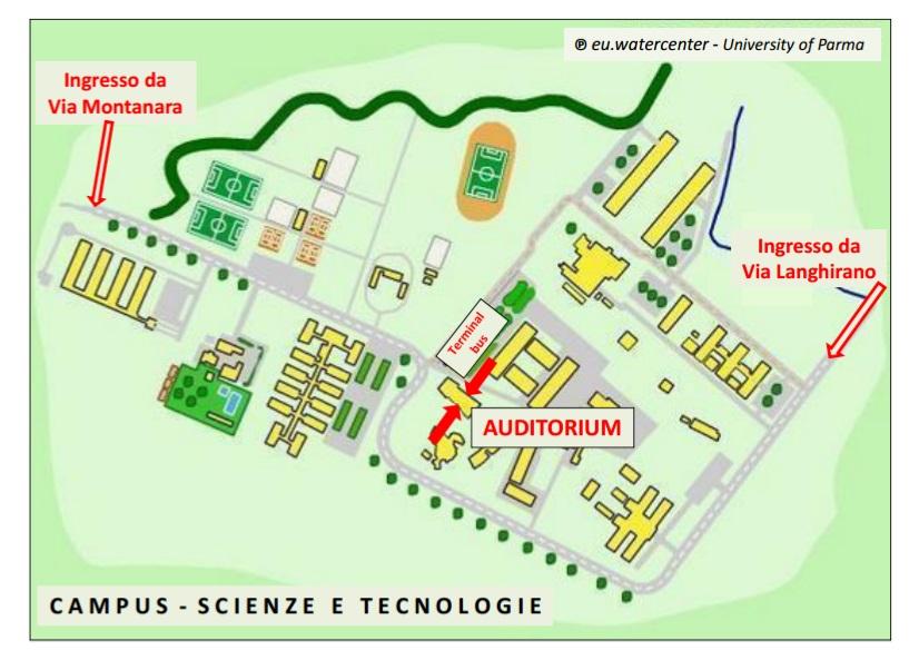 Campus Unipr mappa