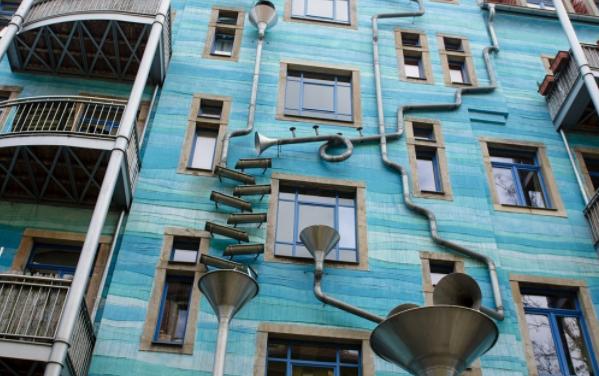 A Dresda un palazzo che suona quando piove